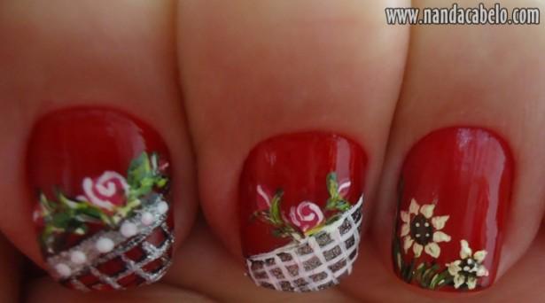 decoracao em unha branca : decoracao em unha branca:Unhas decoradas com rosas