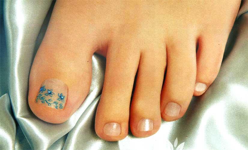 Unhas decoradas para os pés Vestir e Maquiar -> Decoração Para Unhas Dos Pés