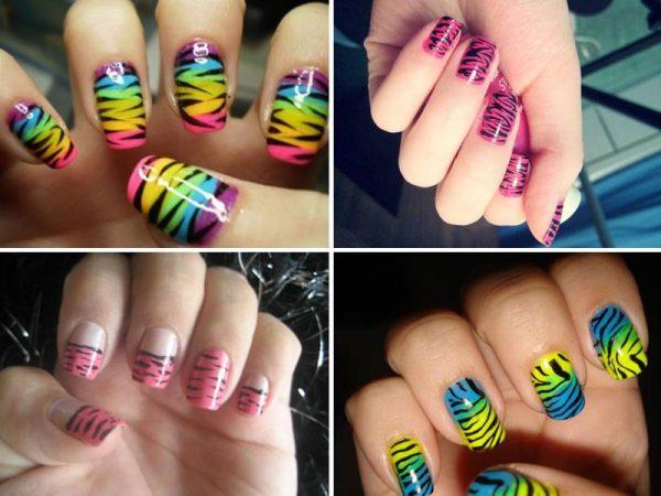 Unhas Decoradas estilo zebra2