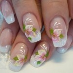 feminine-flower-french-nail-art-ideas-