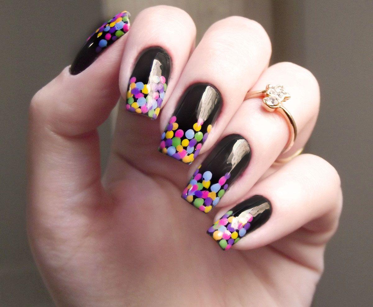 nail art com bolinhas