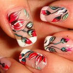 red-nail-art-ideas-flowers