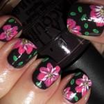 spring-nails-dark-flowers