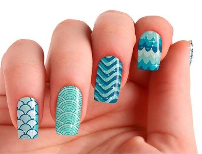 Como fazer unhas com ondas: passo a passo