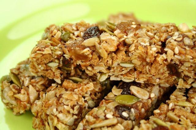 barra de cereal para manter a forma