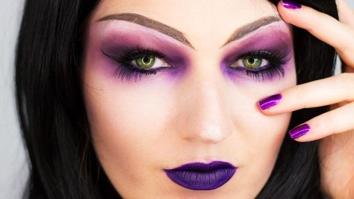 Maquiagem de Bruxa para halloween: olhos