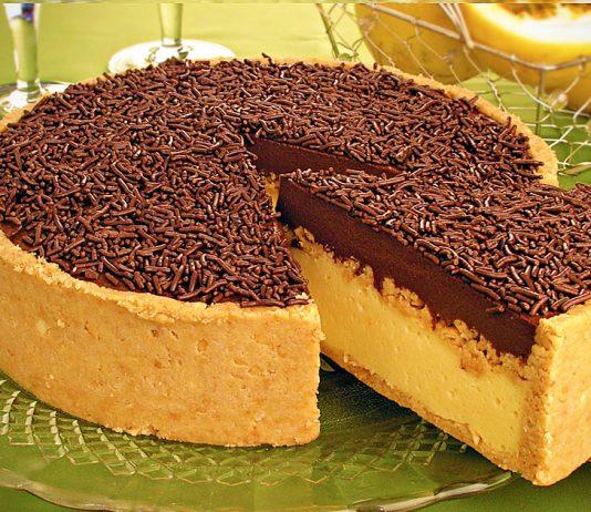torta de maracujá com chocolate