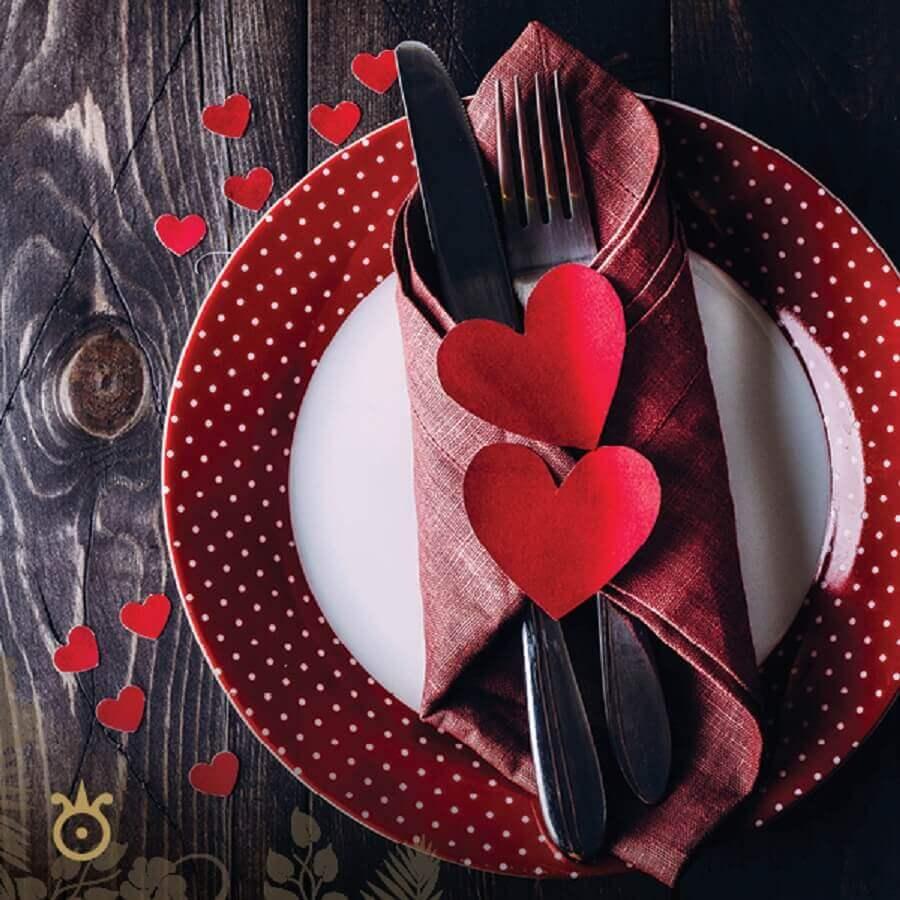 louça jantar romântico