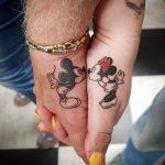 tatuagem mickey e minnie
