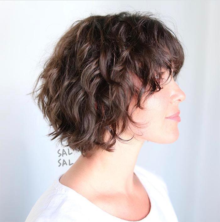cabelo repicado curto