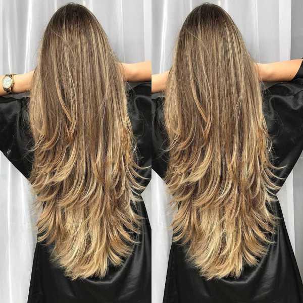 cabelo repicado longo